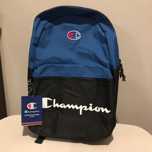 NWT Champion Forever Nylon Lining Top Zip Backpack